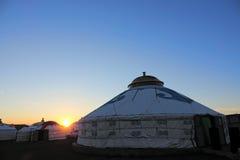 Mongolska wieczór sceneria Obrazy Stock