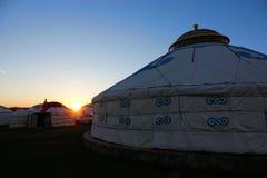 Mongolska wieczór sceneria Zdjęcie Royalty Free