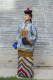 Mongolski mężczyzna w tradycyjnym stroju obraz stock