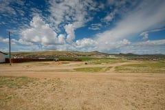 Mongolski miasteczko Obrazy Stock