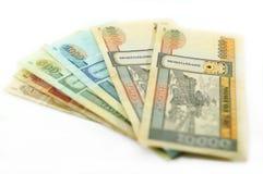 Mongolski pieniądze Obraz Royalty Free