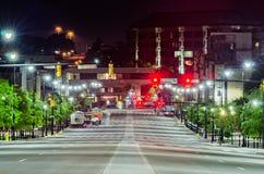 Mongomery alabam śródmieście przy nighttime obraz stock