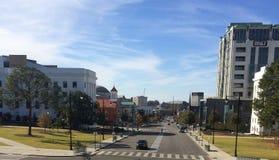 Mongomery del centro Alabama dal capitale fotografia stock libera da diritti