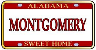 Mongomery miasta Alabama stanu tablica rejestracyjna Obrazy Stock