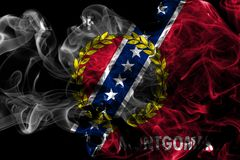 Mongomery miasta dymu flaga, Alabama stan, Stany Zjednoczone Amer Fotografia Royalty Free