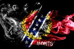 Mongomery miasta dymu flaga, Alabama stan, Stany Zjednoczone Amer Royalty Ilustracja