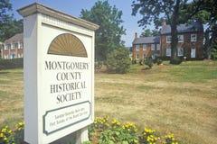 Mongomery okręgu administracyjnego Dziejowy społeczeństwo, Maryland obraz royalty free