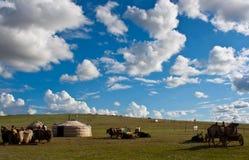 Mongools landschap stock afbeelding