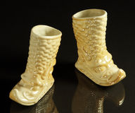 Mongoolse laarzen Royalty-vrije Stock Foto's