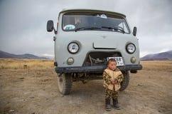 Mongoolse nomadefamilie Royalty-vrije Stock Foto