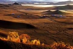 Mongoolse yurt Stock Afbeeldingen