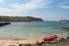 Monhegan Island, Maine. Beach, with Manana Island in background Royalty Free Stock Photography