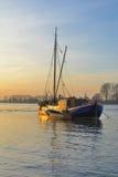 Monheim morgens Rhein, der Rhein, Deutschland Stockbild