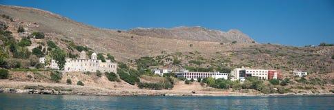 moni för kloster för crete goniakolymvari royaltyfri fotografi