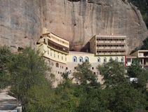 Moni Megalou Spileou (la gran cueva) Imagen de archivo libre de regalías