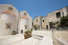 Moni Preveli monastery in Crete. Greece Royalty Free Stock Images
