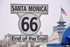 monica码头圣诞老人 库存图片