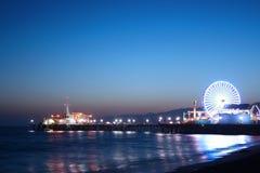 monica码头圣诞老人 免版税图库摄影