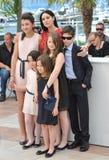 Monica Bellucci & Luis Huilca & Maria Alexandra Lungu & Eva Morrow & Agnese Graziani & Maria-Stella Morrow royalty-vrije stock foto