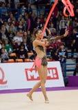 Monica Mickova, Tsjechische Republiek Lint Royalty-vrije Stock Foto's