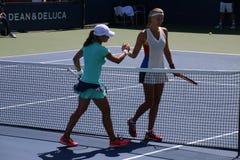Monica Niculescu & Kristina Mladenovic Fotografia Stock