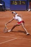 Monica Niculescu in WTA Praga aperta fotografie stock libere da diritti