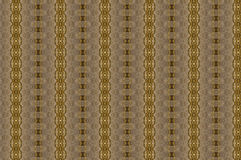 Monica 273. An original textile pattern with repeated arrangement of shapes and colours and an interesting graphic, in golden tones and browns Royalty Free Stock Photography