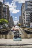 Monica parada Sao Paulo - Paulista aleja - Obraz Stock
