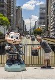 Monica Parade - Paulista aveny - Sao Paulo Arkivfoton