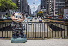 Monica Parade - Paulista aveny - Sao Paulo Royaltyfri Foto