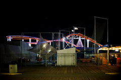 Monica-Pier nachts Lizenzfreie Stockfotos