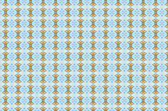 Monica 8. Textile pattern in a blue and golden  mixture of colours Stock Photos