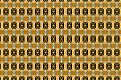Monica. Textile pattern in a  blue and golden mixture of colours with interesting geometries Stock Image
