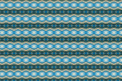 Monica. Textile pattern in a  blue and golden mixture of colours with interesting geometries Stock Images