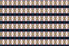 Monica 56. Textile pattern in a  blue and golden mixture of colours with interesting geometries Stock Image