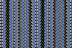 Monica 79. Textile pattern in a blue and golden mixture of colours with interesting geometries Royalty Free Stock Photos