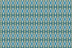 Monica. Textile pattern in a  blue mixture of colours with interesting geometries Royalty Free Stock Photography