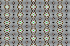 Monica 36. Textile pattern in a brown and green mixture of colours with interesting geometries Royalty Free Stock Image