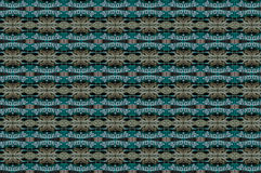 Monica 1. Textile pattern with geometries in green and golden mixtures Royalty Free Stock Photography