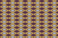 Monica. Textile pattern in a golden mixture of colours with interesting geometries Royalty Free Stock Photo
