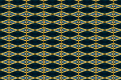Monica 27. Textile pattern in a golden mixture of colours with interesting geometries Royalty Free Stock Photo