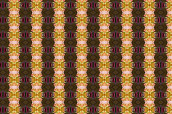 Monica 122. Textile pattern in golden and soft different colours  with interesting geometries Royalty Free Stock Photo
