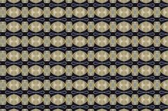 Monica 125. Textile pattern in golden and soft different colours  with interesting geometries Royalty Free Stock Images