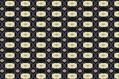 Monica 128. Textile pattern in golden and soft different colours  with interesting geometries Royalty Free Stock Images