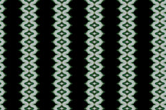 Monica. Textile pattern in a  green  mixture of colours with interesting geometries Royalty Free Stock Photo
