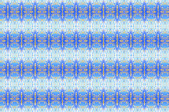 Monica 12. Textile pattern in a light blue and golden mixture of colours with interesting geometries Stock Photo