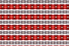 Monica. Textile pattern in a red and beige mixture of colours with interesting geometries Royalty Free Stock Photos