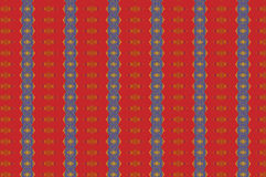 Monica 82. Textile pattern in a red golden mixture of colours with interesting geometries Royalty Free Stock Image