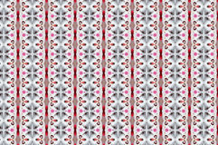 Monica 121. Textile pattern in a red and soft different colours  with interesting geometries Royalty Free Stock Photography
