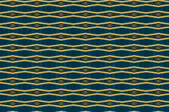 Monica. Textile pattern in turquoise and golden  mixture of colours with interesting geometries Royalty Free Stock Image
